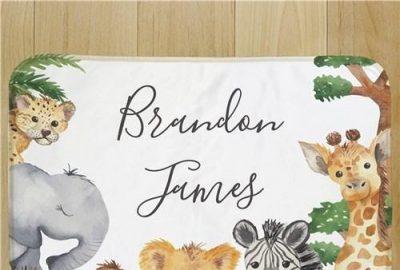 ผ้าห่มสำหรับเด็ก Wild Buddies – Green Accents
